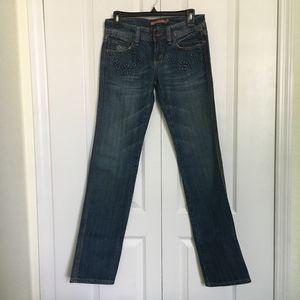 Vigoss floral design on pockets jeans stylish